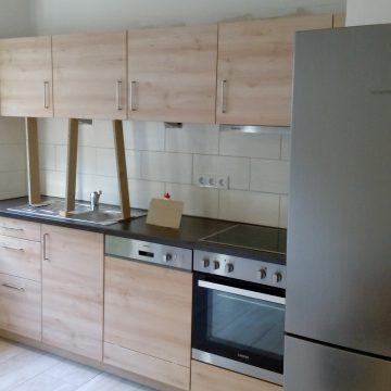 Eine Küche direkt nach der Montage